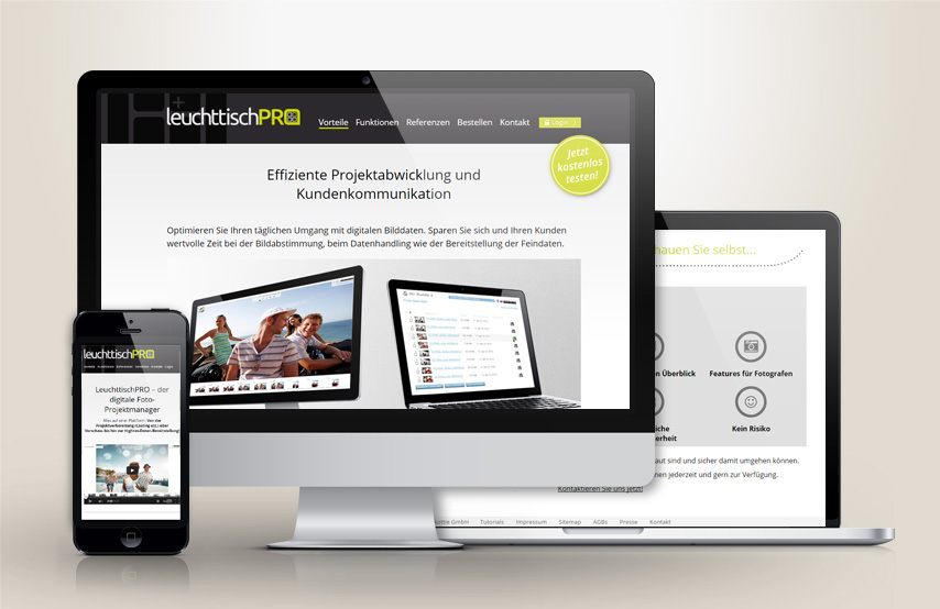 LeuchttischPRO - Website Launch Agentur goldorange