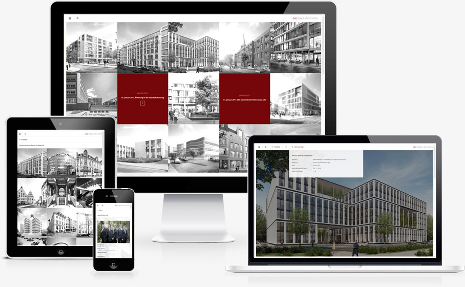Website Relaunch für GRS Architekten aus Hamburg