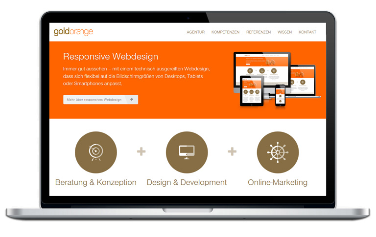 goldorange Internetagentur Hannover Website Relaunch