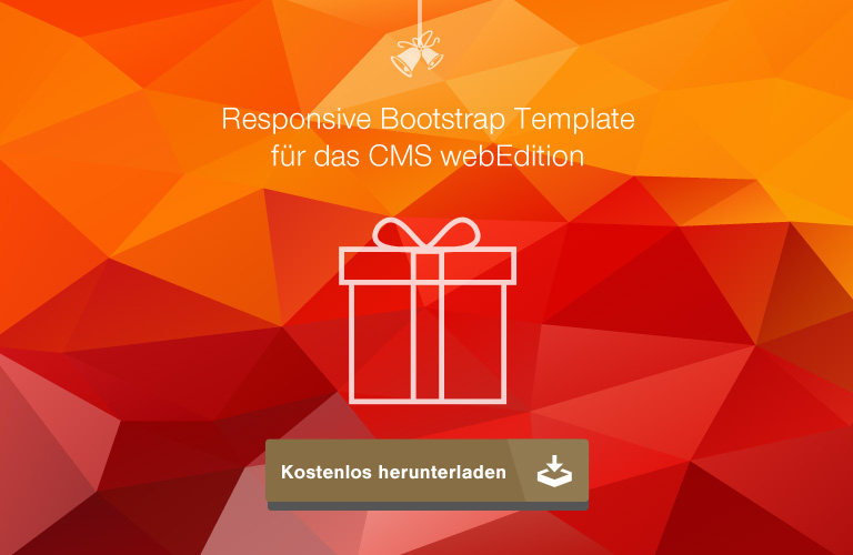 Responsive webEdition-Template zum kostenlosen Download