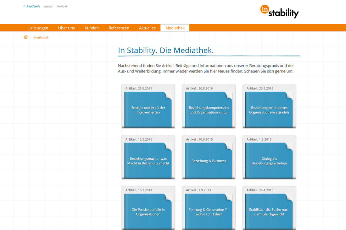Website Relaunch In Stability aus Hannover