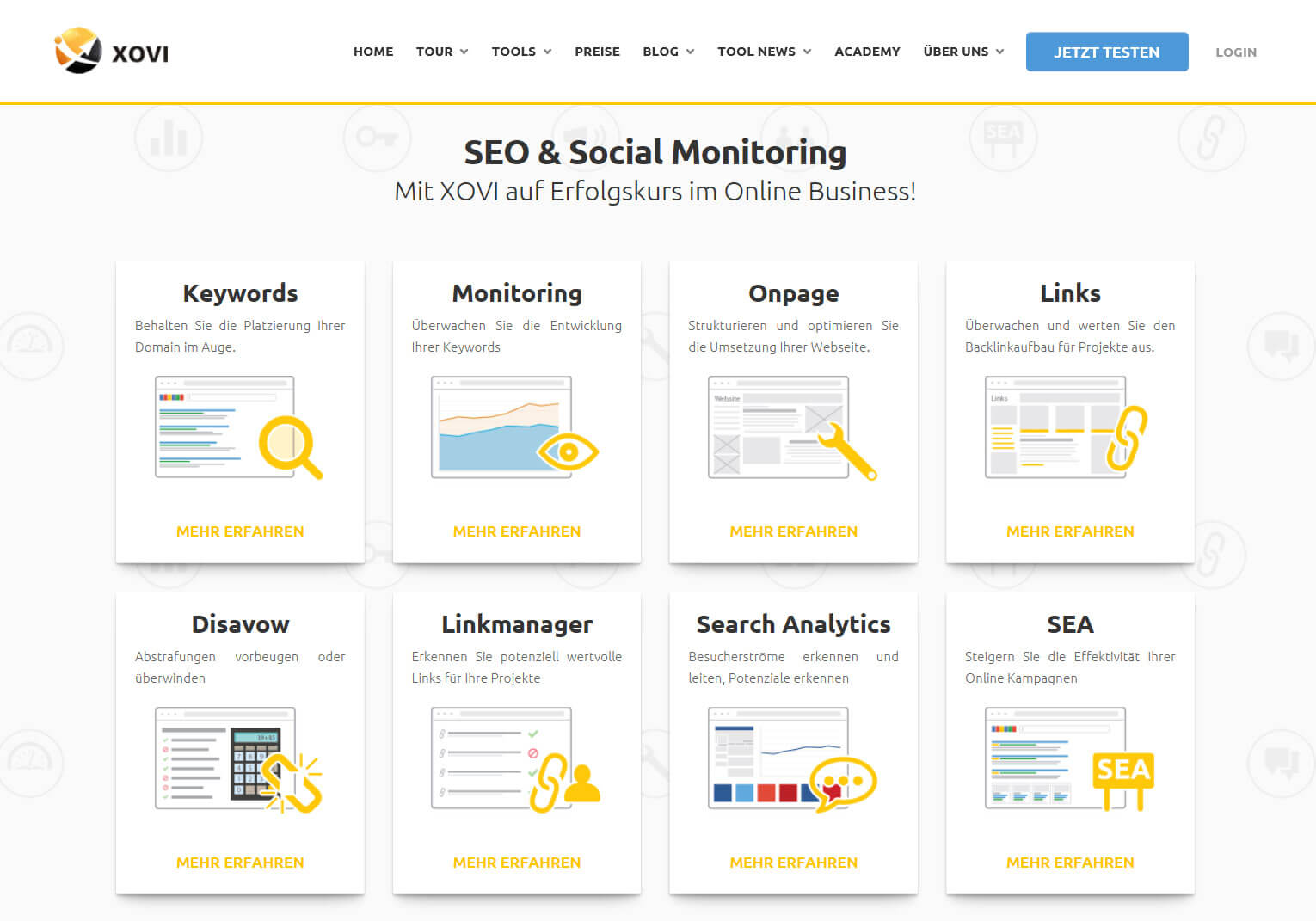 XOVI – das SEO-Tool im Online Marketing