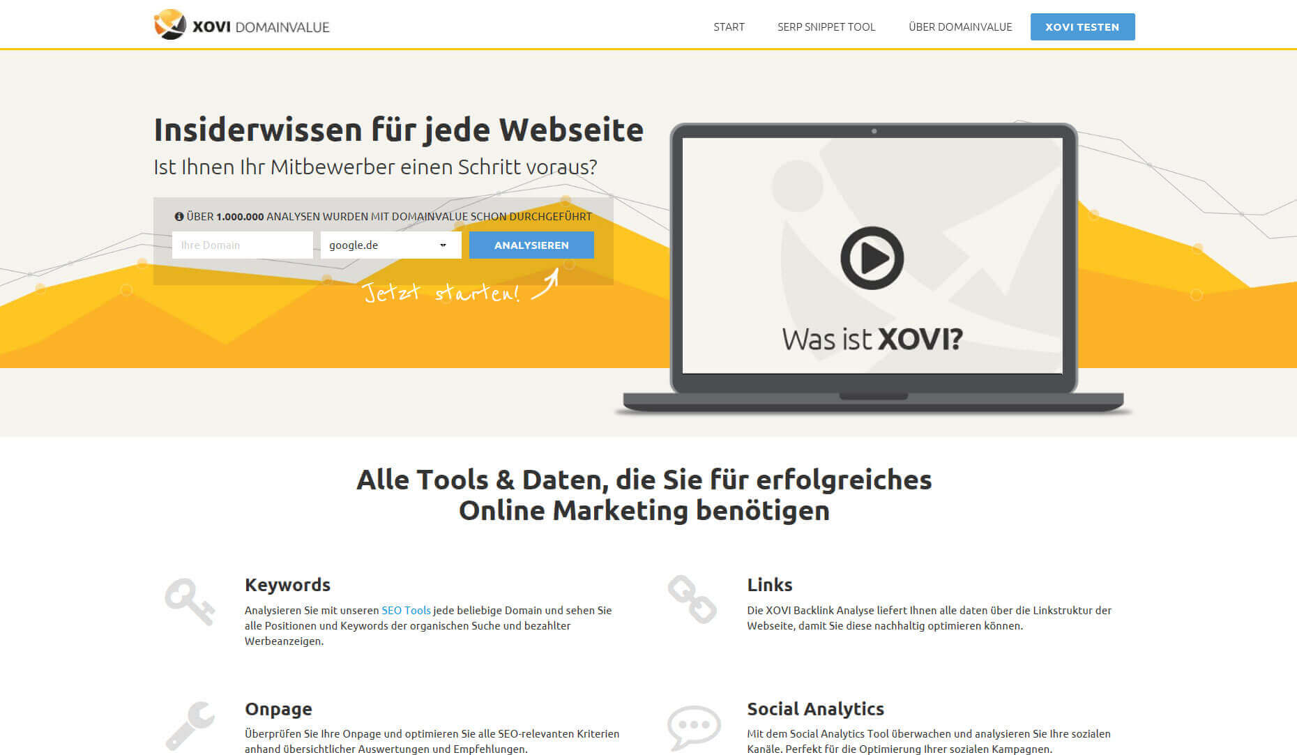 SEO-Analsye mit Domainvalue